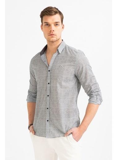 Avva Erkek  Baskılı Klasik Yakalı Gömlek A01S2260 Siyah